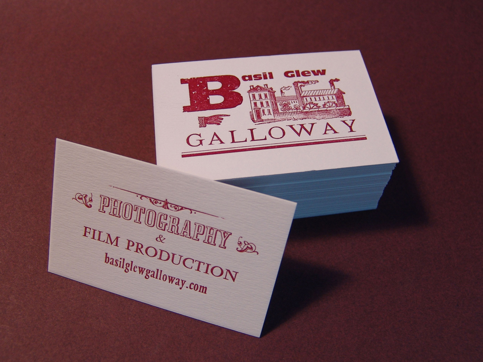 carte de visite en typographie